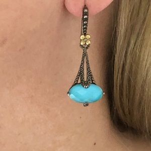 SS/18K BARBARA BIXBY Turquoise Earrings